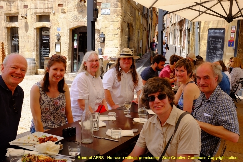 The expeditionary force of Bath, enjoying lunch before the concert